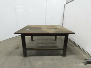 1 1 4 Thick Top Steel Machine Base Welding Table Work Bench 67 x63 x34 1 2