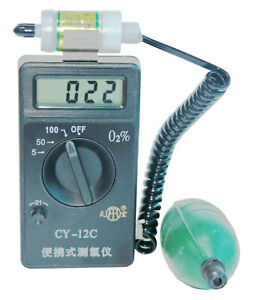 Cy 12c Oxygen Concentration Content Tester Detector Oxygen Analyzer