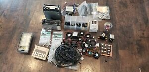 Random Lot Of Vintage Electronics And Components Box Full Of Mixed Items