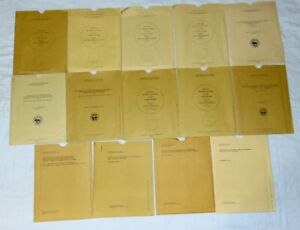 Huge Lot Of 14 Vintage Us Geological Survey Maps Charts Etc 1955 To 1988
