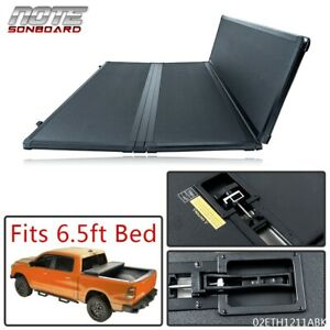Solid Hard Tri Fold Tonneau Cover Fit For 15 20 F 150 Standard 6 5ft Short Bed