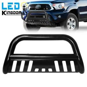 For 2005 2015 Toyota Tacoma 3 Bull Bar Brush Push Front Bumper Grille Guard Blk
