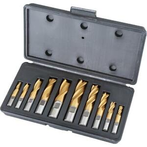 Grizzly G9763 Hss Tin Coated 2 And 4 Flute End Mills 10 Pc Set