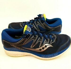 Saucony Mens Hurricane Iso 5 S20460 2 Blue Running Shoes Lace Up Low Top Size 11
