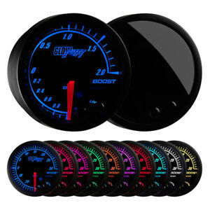 Glowshift Elite 10 Color Bar Electronic Boost Vacuum Gauge Gs Et01 Bar