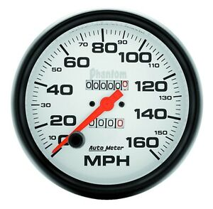 Autometer 5895 Mechanical Phantom Speedometer Gauge 160mph