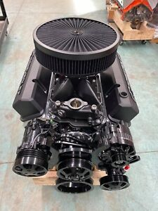 383 R Stroker Chevy Crate Engine A C 526hp Roller Turnkey Cnc Heads New Gm 4 Blt