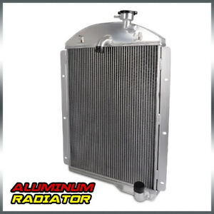 Aluminum Racing Cooling Radiator For 1941 1946 Chevy Pickup Truck Small Block V8
