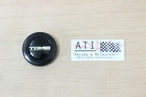 Rare Jdm Tomei Racing Black Chrome Steering Wheel Horn Button