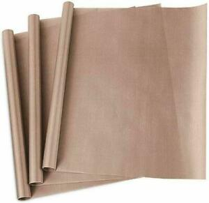Teflon Transfer Sheets For Iron Heat Press Reusable Heat Resistant Mat Liner 3pc