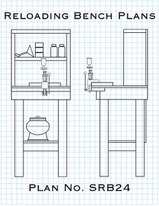 Small Reloading Bench Plans Build a Sturdy Ammunition Reloading Bench DIY $12.95