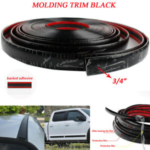 3 4 20mm Black Car Molding Trim 5feet Body Side Roof Protective Decorate Strip