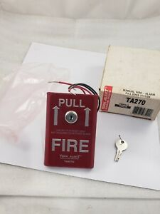 Tork Ta270 Red Manual Pull Station W key For Fire Alarm Looks Like Fire Lite