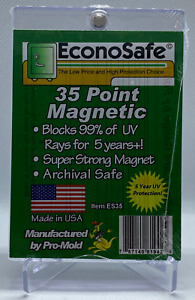 Lot Of Five 5 Econosafe 35 Pt One Touch Thick Card 35pt Magnetic Card Holder