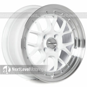 Circuit Cp27 15x7 4 100 35 White Wheels Rims Fits Acura Integra Dc2 Gsr Stance