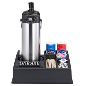 Service Ideas Aplr15bl Single Airpot Stand With Condiment Station
