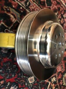 Small Block Chevy Swp Pulley Serpentine 6 Groove Billet 6 Diameter Polished