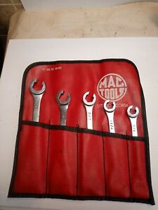 Mac Tools 5 Piece Flare Nut Line Wrench Set 38 58 Usa Withpouch Scob5k Nice