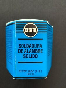 Kester Solder 14 5050 0125 Solid Wire Sn50pb50 125 Dia 1 Pound