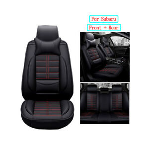 Pu Leather Car Seat Covers Full Set Seat Cushion Fit For Subaru Forester