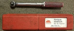 Mac Tools Torque Wrench 1 4 Drive 200 In Lbs Tw4200a With Original Case
