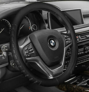 Leather Car Steering Wheel Cover Car Truck Suv Black