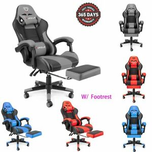 Gaming Chair Racing Computer High Back Recliner Office Desk Swivel Seat Leather