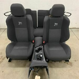 15 18 Challenger Front Buckets Rear Bench Seat Set W Floor Console 2218760