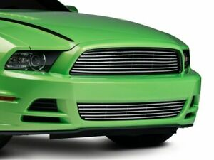 Modern Billet Retro Lower Grille In Polished Fits Mustang 2013 2014 Gt And V6