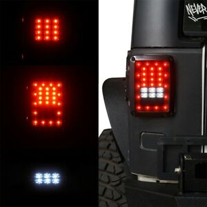 2 X Durable Abs Led Tail Lights Led Lamps With Brake For Jeep Wrangler Jk 07 18