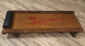 Extremely Rare Vintage Lisle Jeepers Creeper Wooden Auto Creeper Model J 97602