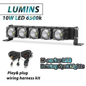 12 Round Led Driving Work Light Bar Hyper Spot Headlight Fog Pods Off Road 4wd