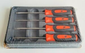 new Snap on Mini Screwdriver Set Sgdx40bo orange Soft Handles 4 Pcs new