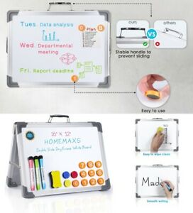 Large Dry Wipe Magnetic Whiteboard Office Notice Memo White Board Pen Eraser