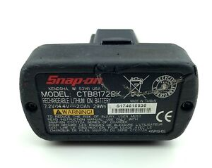 Snap on Tools Usa Battery Pack 14 4v Ctb8172bk 2 0ah Power Tool needs Repair
