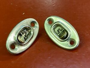 Vintage Door Lock Toggle Switch Plate Escutcheon Ford Chevy Gm Buick Olds Set