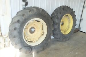 64 Ford 4000 Diesel Tractor Rear Back Wheels Rims And Tires
