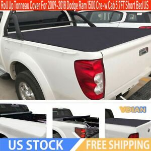 Roll Up Tonneau Cover For 2009 2018 Dodge Ram 1500 Cre W Cab 5 7ft Short Bed Us