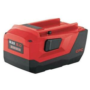 Hilti B 22 volt 8 0 Amp Lithium ion High Performance Industrial Extra Battery