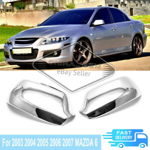 For 2003 2004 2005 2006 2007 Mazda 6 Chrome Both Side Mirror Cover Special Trims
