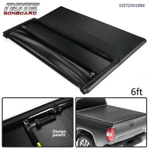 New For 2005 2015 Toyota Tacoma 6ft Tri fold Soft Truck Bed Tonneau Cover Black