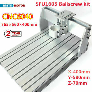 6040 Engraving Woodwork Cnc Router Diy Machine Frame Ball Screw 80mm Clamp us