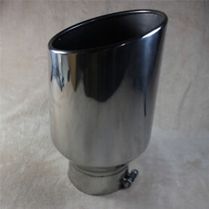 15 Long Bolt On Diesel Exhaust Tip 8 Outlet 5 Inlet Chrome Stainless Steel