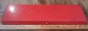 Vintage Snap on Red Tool Box Storage Ratchet Socket Extensions Case 19 X 5 1 2