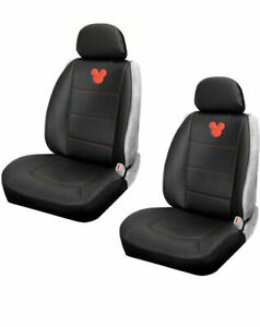 Disney Mickey Mouse Sideless Seat Cover W Cargo Pocket 3 Part Design 2 Pack
