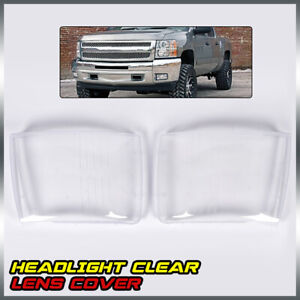 Clear Headlight Lamp Lens Cover For 2007 2013 Chevy Silverado Replacement