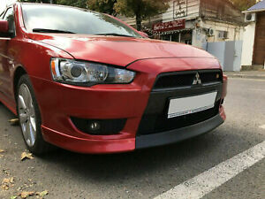 Mitsubishi Lancer 2007 2008 2009 2010 Middle Central Front Lip Spoiler Shine Fl