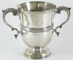 1750s George Ii Sterling Silver Two Handled Loving Cup London Thomas Parr Ii