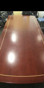 Elegant Solid Wood Conference Room Table