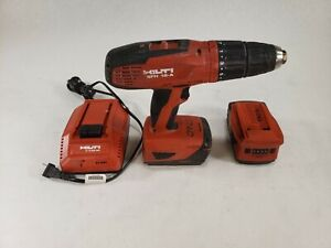 Hilti Sfh 18 a 18v 1 2 Red Cordless Hammer Drill Set Extra Battery Charger
